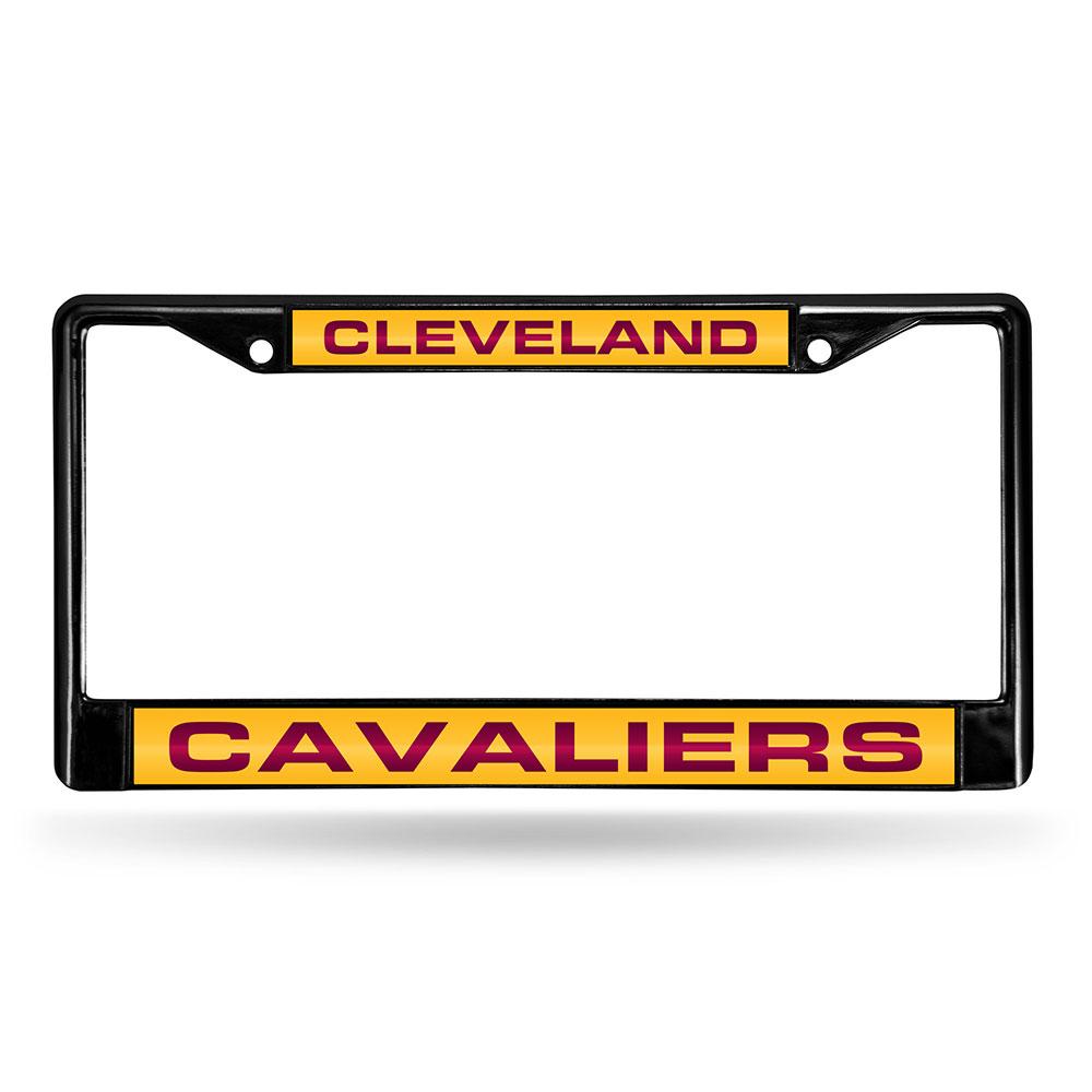 Cleveland Cavaliers Laser Etched Chrome License Plate Frame (Black)
