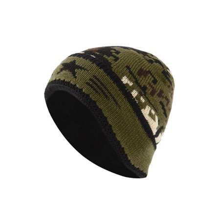 cfd09ad19fb Unisex Men Women Knitted Hat Camouflage Chunky Beanie Fleece Caps Winter  Ski Cap - Walmart.com