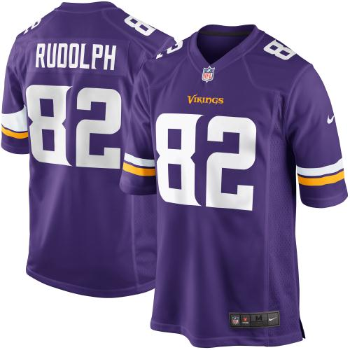 Kyle Rudolph Minnesota Vikings Nike Youth Team Color Game Jersey - Purple