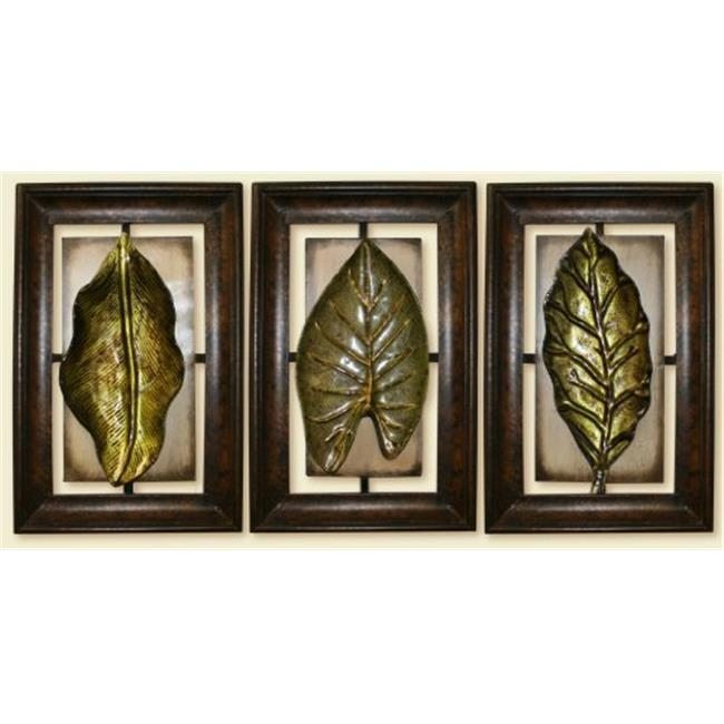 TWG ExsoticLeaves Exsotic Leaves Art Sculpture Metal Wall Decor