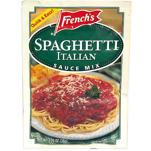 French's Italian Spaghetti Sauce Mix, 1.25 oz (Pack of 24)