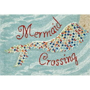 Liora Manne Frontporch 1448/03 Mermaid Crossing Water Area Rug 20 Inches X 30 Inches