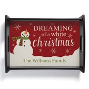 Personalized Serving Tray - Dreaming Of A White Christmas