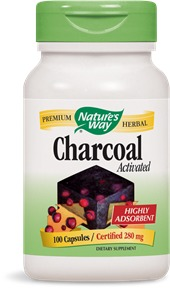 Activated Charcoal Nature's Way 100 Caps