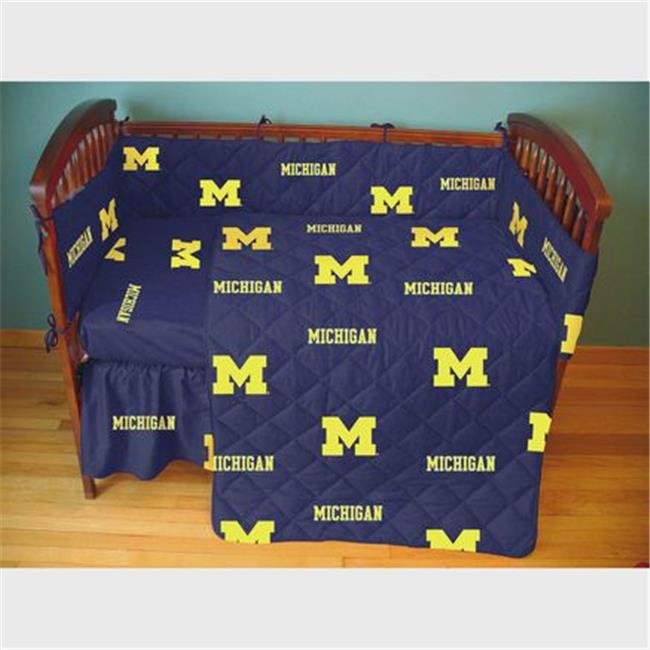 College Covers MICCSFSPR Michigan Wolverines Baby Crib Fitted Sheet Pair