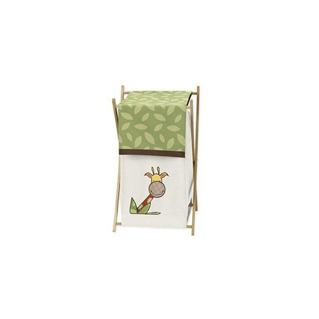 Jungle Basket - Jungle Time Bhy/Kids Clothes Laundry Hamper for Sweet Jojo Designs for Jungle Time Bedding