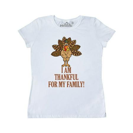 I AM THANKFUL FOR MY FAMILY TURKEY THANKSGIVING Women's - Thankful Turkey Craft