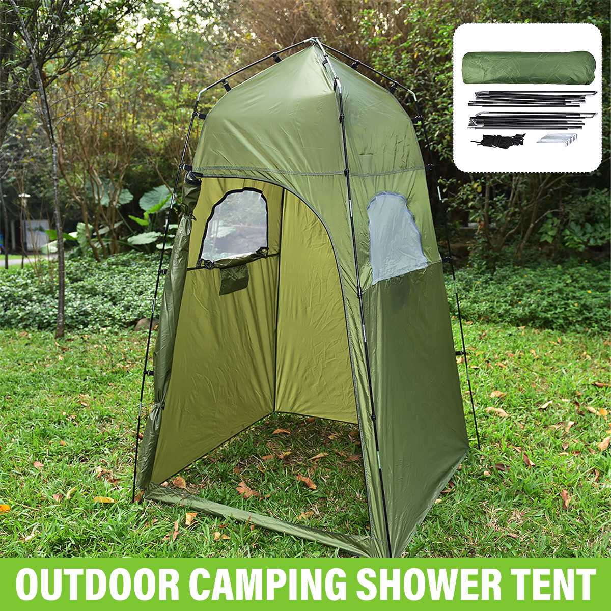 Pop Up Toilet Tent Shower Tent Fishing Shelter for Camping Beach Outdoor Sun Shelter Camping Toilet Tent Portable Privacy Changing Tent with Carrying Bag
