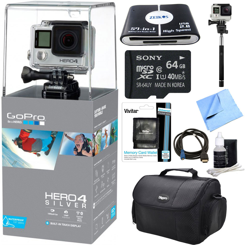 GoPro HERO 4 Silver Action Camera Ready For Adventure Bundle ...