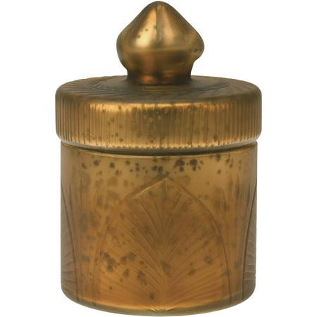 Antique Copper Mercury Glass Trinket Box Floral Gold Trinket Box