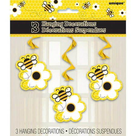 Bumble Bee Hanging Decorations 3pk