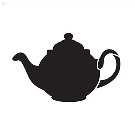 Little Teapot by StudioR12 | Fun and Traditional - Reusable Mylar Template | Painting, Chalk, Mixed Media | Wall Art, DIY Home Decor - STCL844 - SELECT SIZE (10