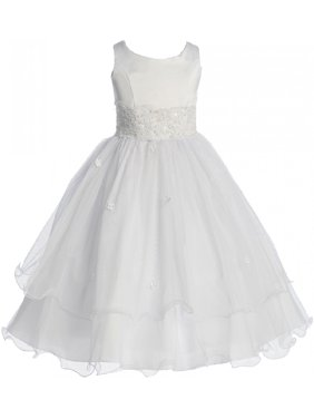 e9d9992cf Product Image Little Girls Flower Girl First Communion Pageant Wedding  Bridesmaid Girl Dress White 2 (1KD98)