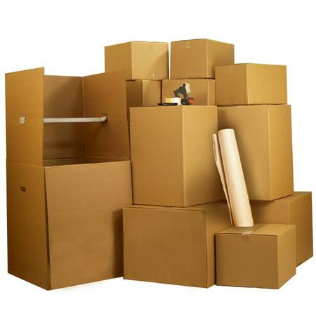 Uboxes 1 Room Wardrobe Moving Kit, 9 Boxes & 1 Wardrobe Box