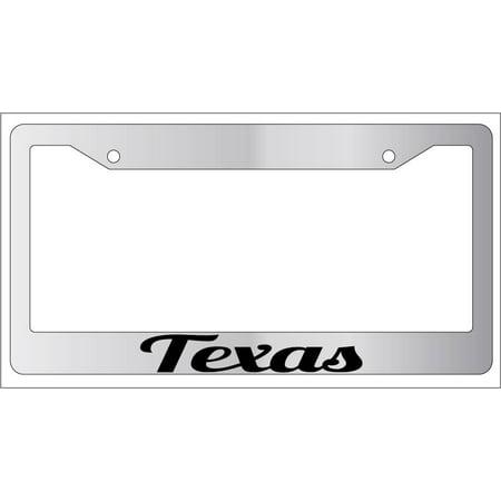 Texas Plastic License Plate (Texas Chrome Plastic License Plate)