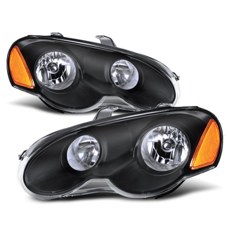 Fit 2003 2004 2005 Chrysler Sebring 2 Door Coupe Black Headlights -