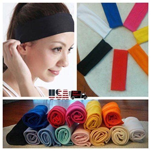 Sports Hair Band Elastic Wide Gym Yoga Exercise Headband Bandage 1pc