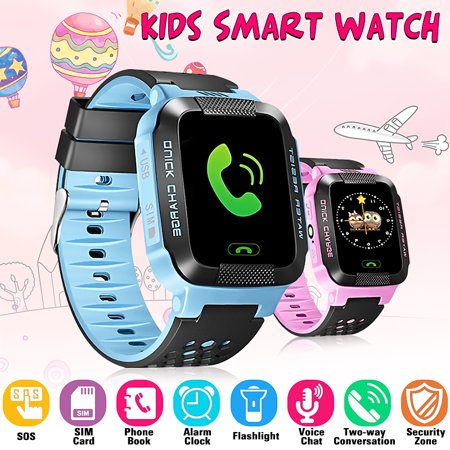 Smart Watch For Kids With SIM Call,GPS Tracker, Flashlight , Anti-lost Alarm, Compatible For IOS (Best Truck Gps App For Android)