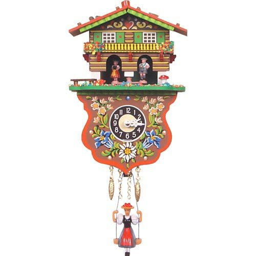 Boy and Girl Weather House Cuckoo Clock by Alexander Taron