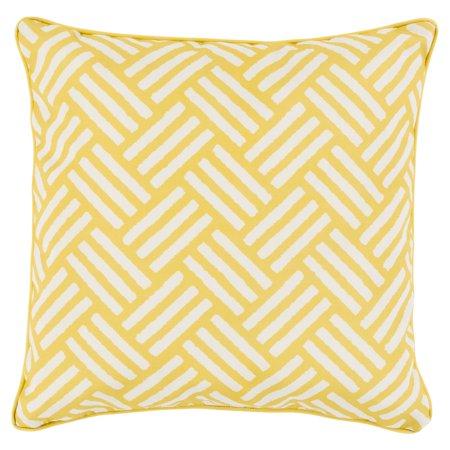 - Surya Basketweave Indoor/Outdoor Pillow