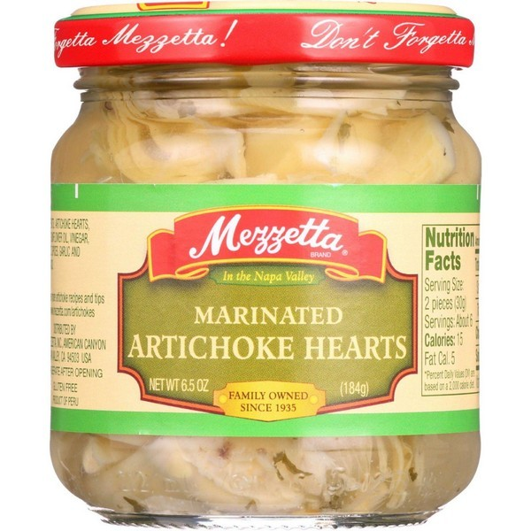Mezzetta Artichoke Hearts - Marinated - Imported - 6.5 Oz - pack of 12