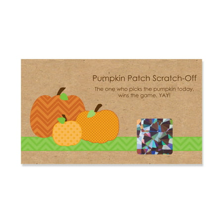 Pumpkin Patch - Fall & Halloween Party Game Scratch Off Cards - 22 Count