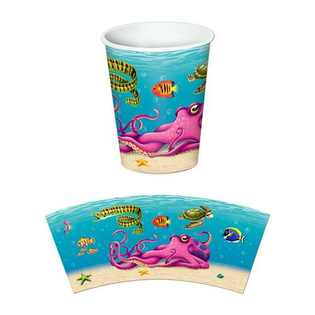 The Beistle Company Under the Sea Beverage 9 oz. Cup (Set of 8)](Under The Sea Items)