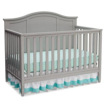 Delta Children Madrid 4 In 1 Convertible Crib  Gray