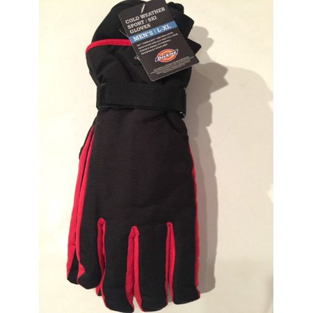 - Dickies Ottoman Waterproof Ski Snowboard Winter Gloves Thinsulated Black/Red (L-XL)