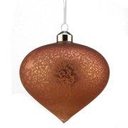 "4.5"" Rich Elegance Vintage Matte Dusty Rose Mercury Glass Onion Christmas Ornament"