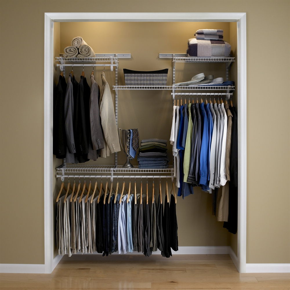 ClosetMaid ShelfTrack 4 Ft To 6 Ft Wide Closet Organizer Kit   Walmart.com