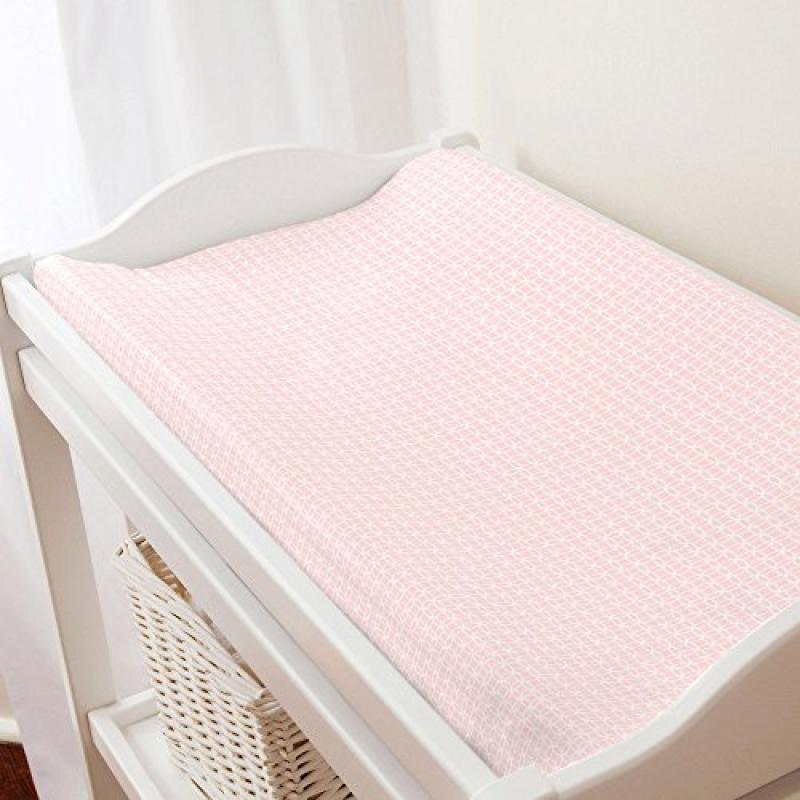 Carousel Pink Circles Changing Pad Cover