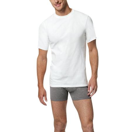 Jockey Crewneck T-shirt - Men's X-Temp Comfort Cool White Crewneck 5-Pack Undershirt