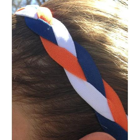 No Slip Grip  Non-Slip Sports   Athletic Nylon Triple Braided Sports  Headband - Walmart.com 023a08a4ff3