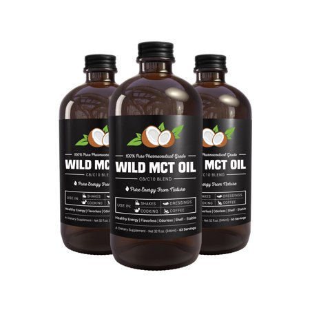 100  Pharmaceutical Grade Mct Oil  Wild Mct  Made In Usa  32 Fluid Oz Glass Bottle  Guaranteed Quality  C8 C10 Blend  Great For Smoothies  Salads  Coffee  And Shakes