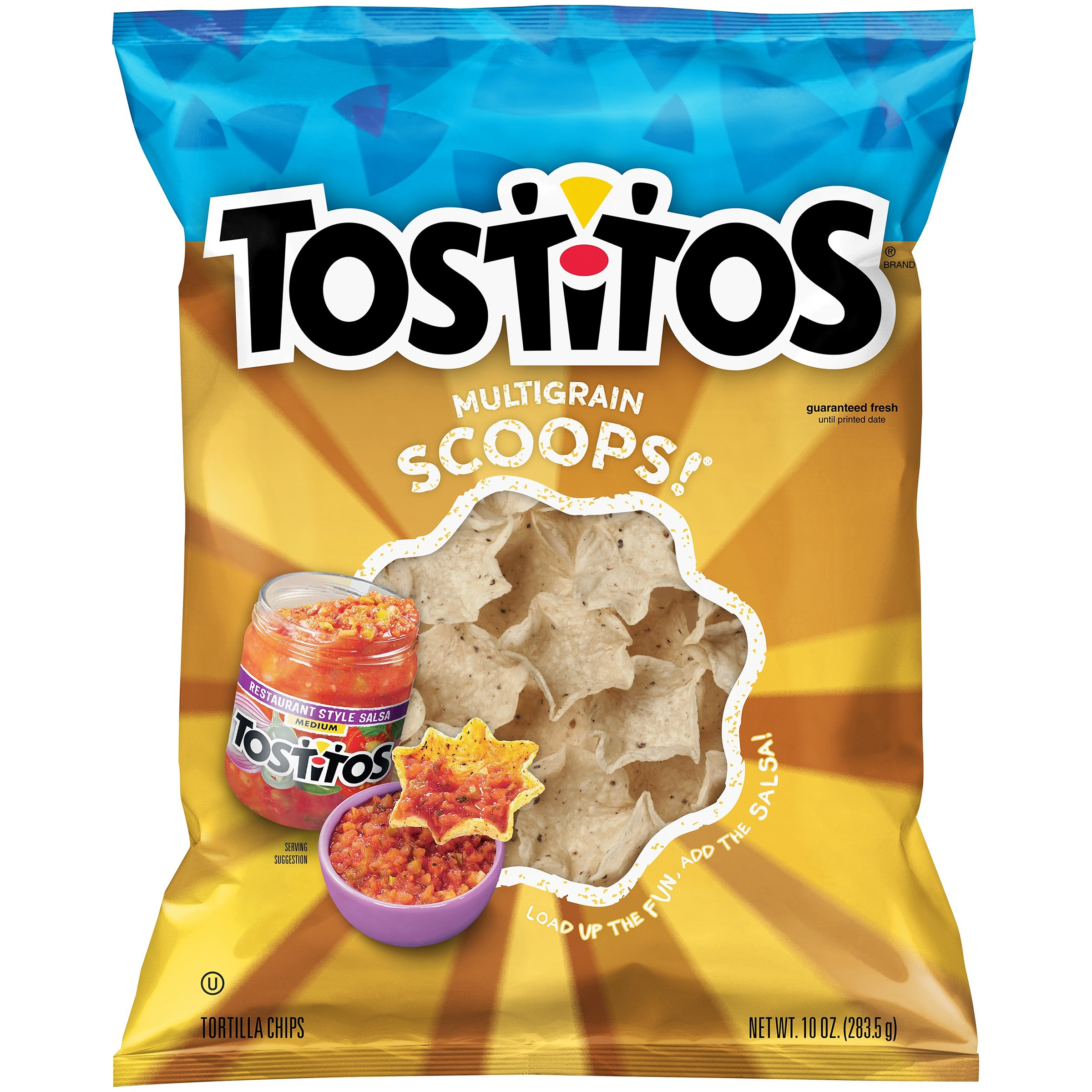 Tostitos Multigrain Scoops Tortilla Chips, 10 oz Bag