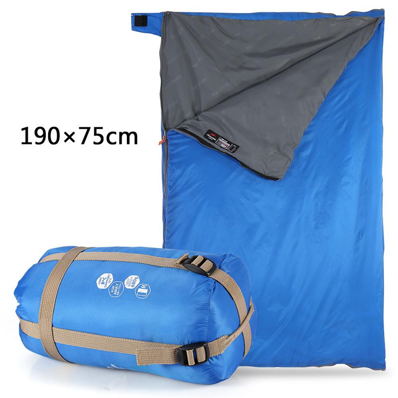 Envelope Sleeping Bag Qiilu Sleeping Bag Portable Lightweight Waterproof Great for Backpacking Outdoor Camping Hiking Traveling with Compression Sack For Kids Men Women (Light Blue)