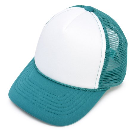 aead02ba4 DALIX Infant Trucker Hat Baby Cap Tiny Extra Small Girls Boys in Teal White