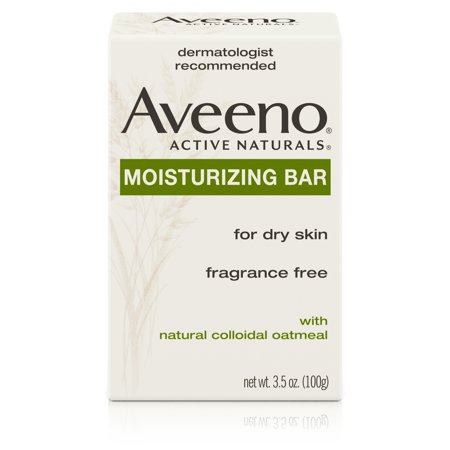 (2 pack) Aveeno Gentle Moisturizing Bar Facial Cleanser for Dry Skin, 3.5
