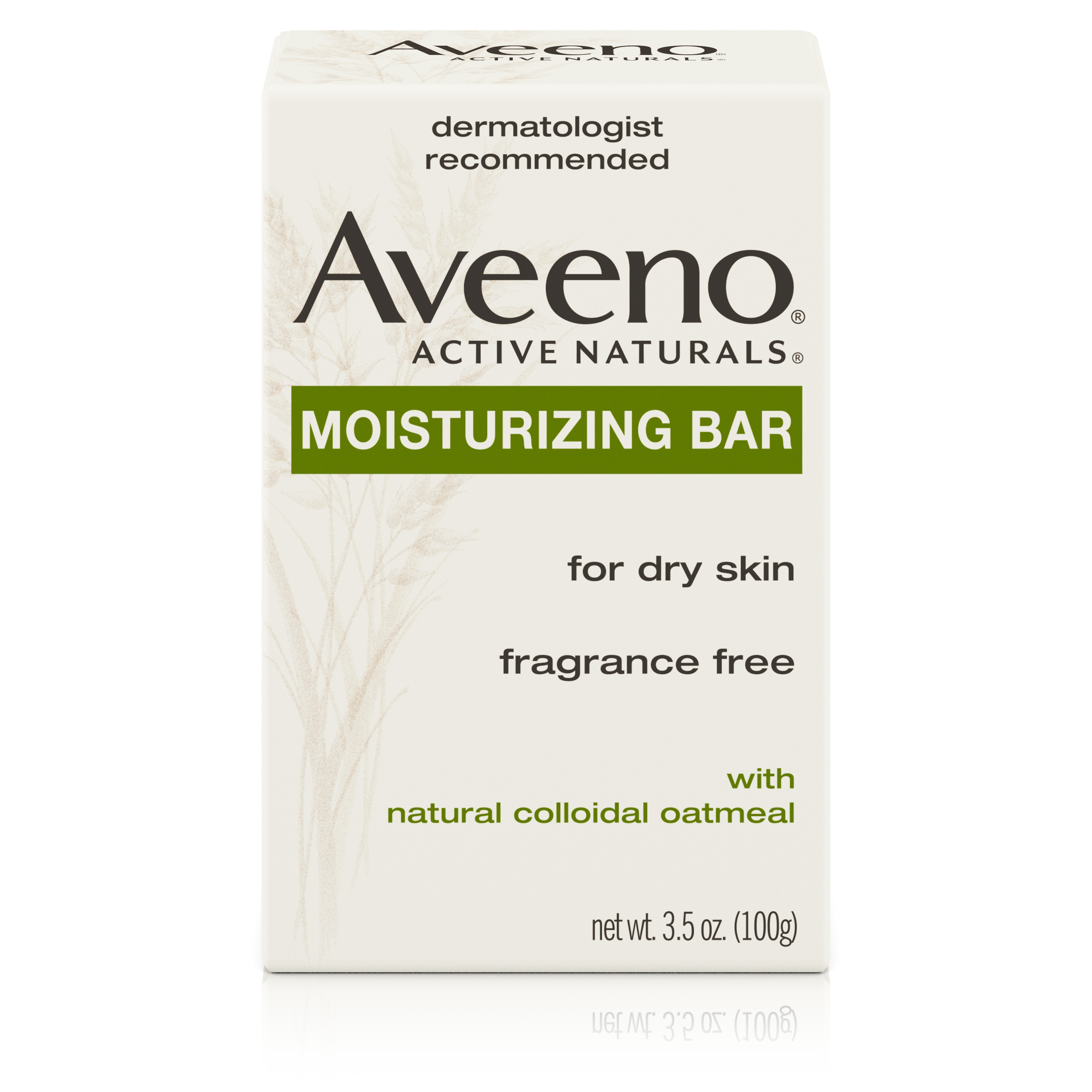 Aveeno Gentle Moisturizing Bar Facial Cleanser for Dry Skin, 3.5 oz