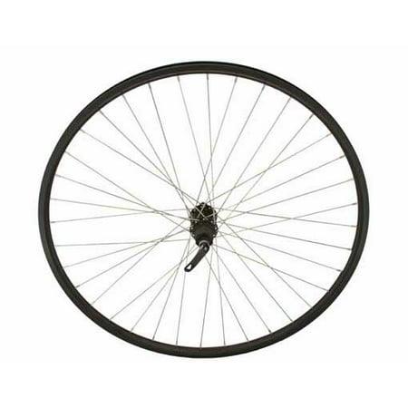 700c Alloy Rear Wheel Cassette 14g W Q R Black Bicycle Wheel