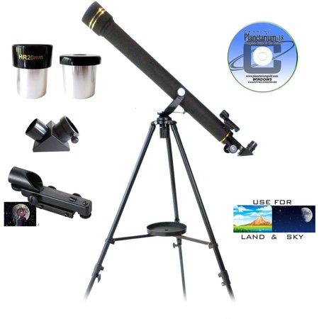 Galileo G-860BG 800mm x 60mm Astronomical and Terrestrial Refractor Telescope Kit with Smartphone Photo Adapter