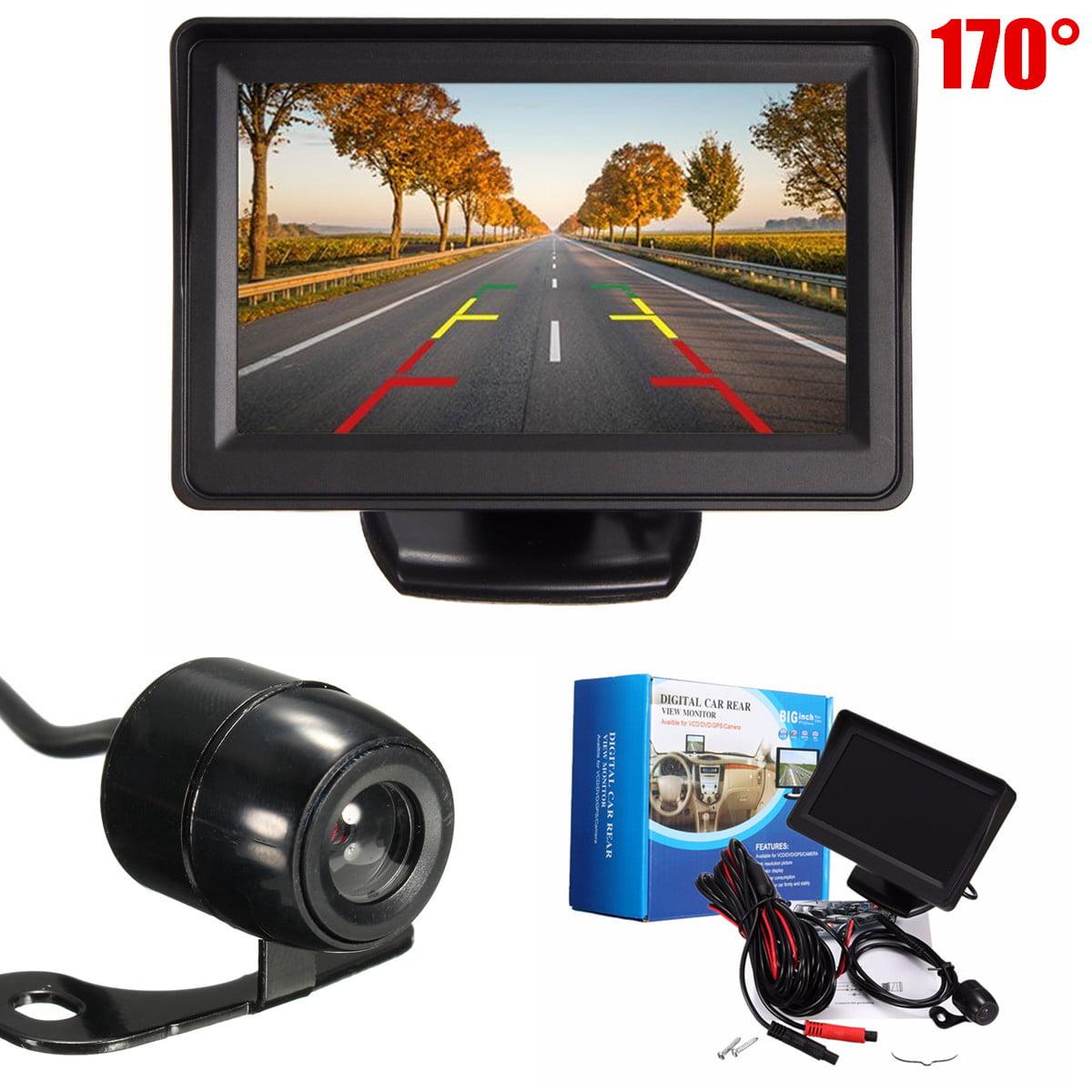 "12V-24V Car Truck Auto 4.3"" TFT LCD Monitor Video +170° 12V Night Vision CMOS Car Reverse Back Up Rear View Parking Camera Kit"