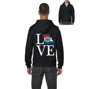 Love Missouri Men Full-Zip Hooded Sweatshirt