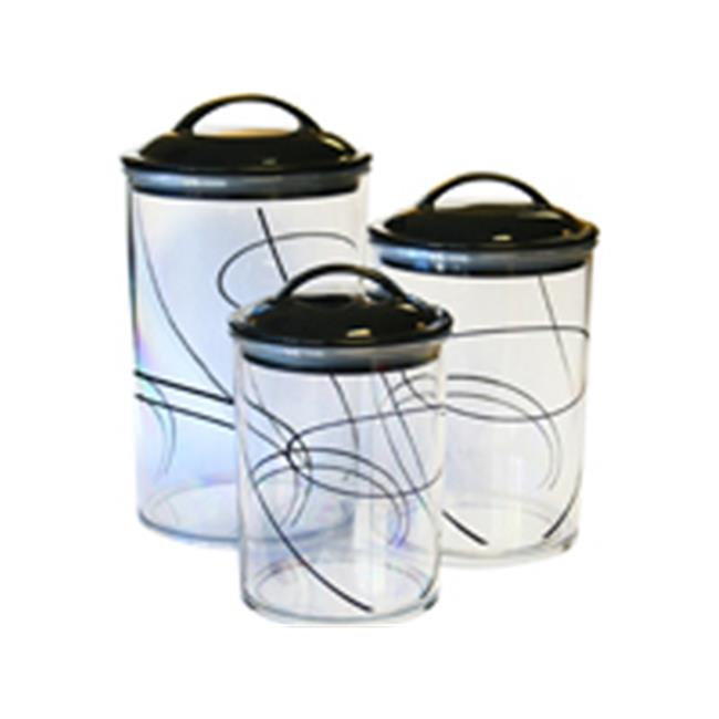 Reston Lloyd Simple Lines3Pc. Acrylic Canister SetCorelle