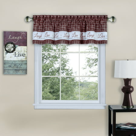 Breeze Window Valance - Achim Live, Love, Laugh Window Curtain Valance - 58x14