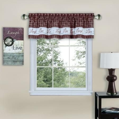 Achim Live, Love, Laugh Window Curtain Valance - 58x14 (Curtain Only Sailcloth)