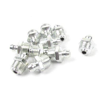 Unique Bargains10 Pcs 3x1mm Male Thread Straight Hydraulic Grease Nipple Fitting Silver Tone