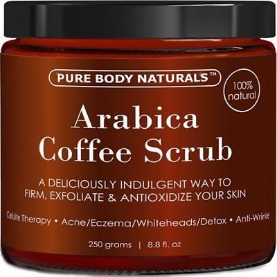 Pure Body Naturals Natural Arabica Coffee Scrub 8.8 fl. oz