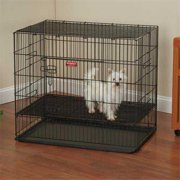 Proselect ZW064 24 17 Puppy Playpen with Plastic Pan Sm Black S